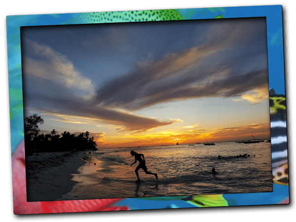 Stunning sunset at Nungwi Beach during the best diving season in Zanzibar
