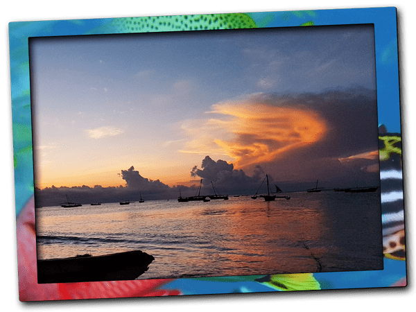 During the best diving season in Zanzibar spectacular cloud formations and sunsets are common. You can watch the natural splendour and sunsets from Nungwi Beach.