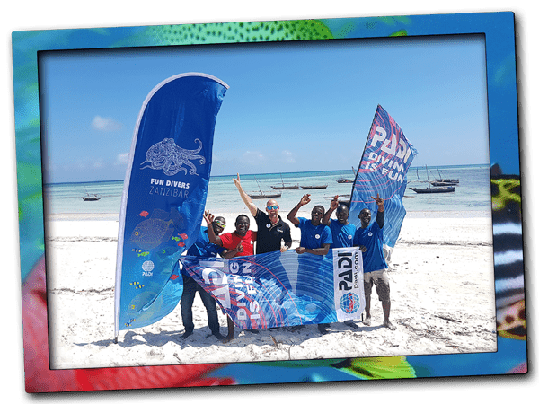 Learn to scuba dive in Zanzibar. Local PADI Dive Resort Fun Divers Zanzibar offers quality beginner and advanced scuba diving courses at the northern tip of Zanzibar Island. Where nature reserves, dive sites and marine life enable the best conditions for student divers.